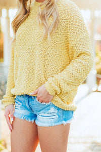 Spring Breeze Light Knit Sweater - Yellow