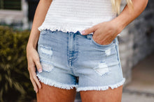 Load image into Gallery viewer, Madison Distressed Denim Shorts