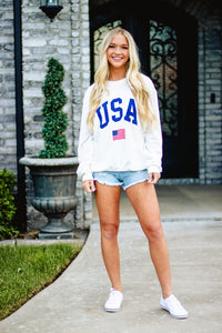 USA Sweatshirt- White