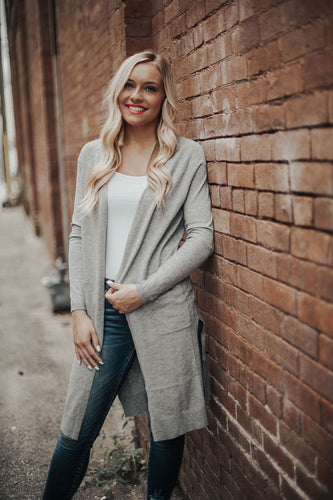 Sweet Springs Cardigan- Grey