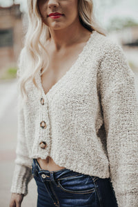 Woodsy Cardigan Sweater- Sand
