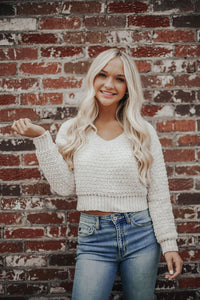 I'm Yours Crop Sweater- Cream