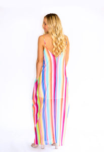Over The Rainbow Stripe Maxi