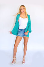 Load image into Gallery viewer, Summer Love Cardigan -Teal