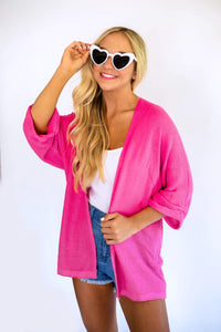 Summer Love Cardigan -Hot Pink