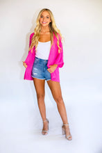 Load image into Gallery viewer, Summer Love Cardigan -Hot Pink