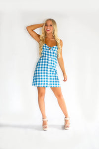 Poolside Checked Dress