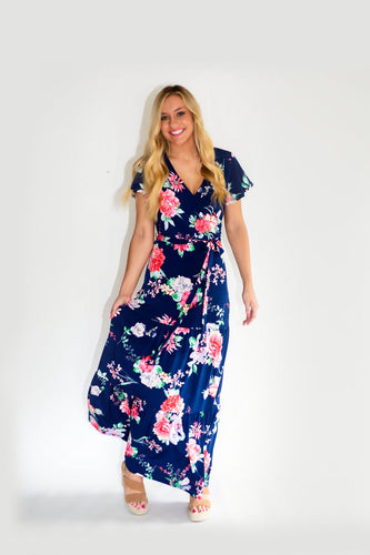 Thats a Wrap Floral Maxi Dress
