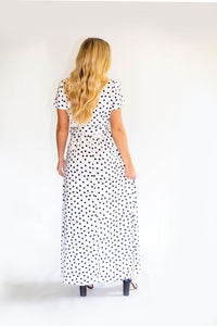 Lovely Lady Polka Dot Maxi