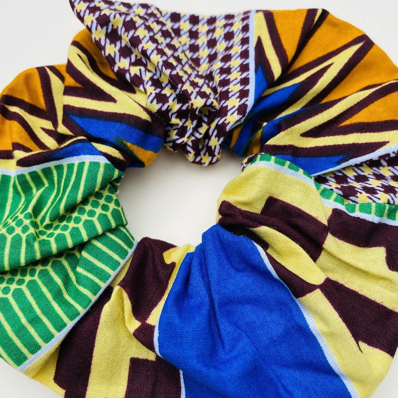 Calabar scrunchie large kente, Scrunchie, mumutane