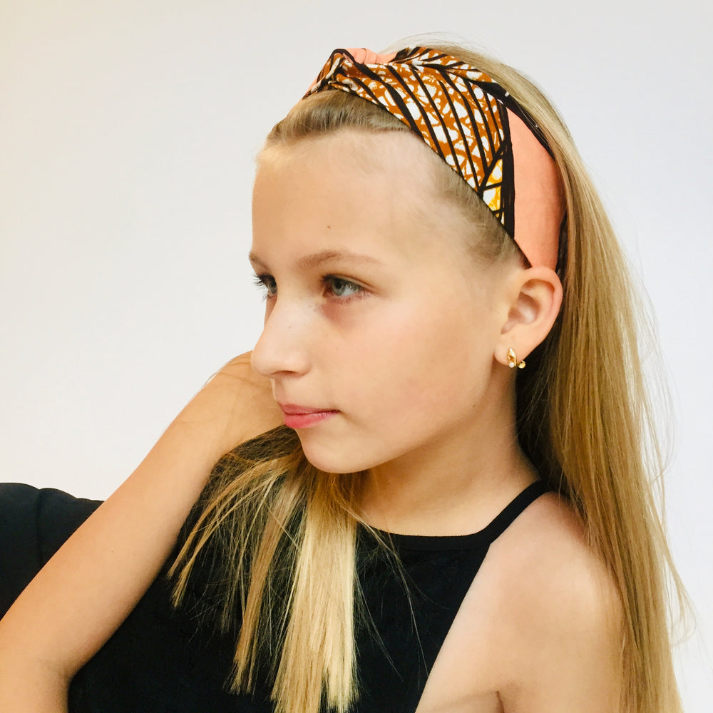 Turban headband kids retro