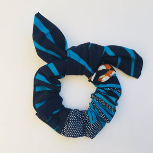Minna scrunchie ears blue palm tree, Scrunchie, mumutane