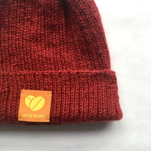Coffee beanie peace rust, Hue, mumutane