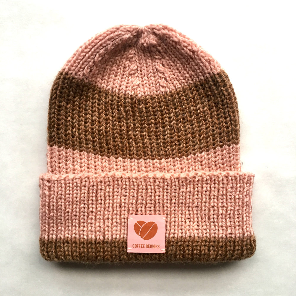Coffee beanie peace pink