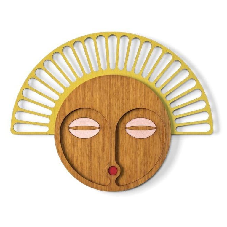 Modern African Mask Yellow #23