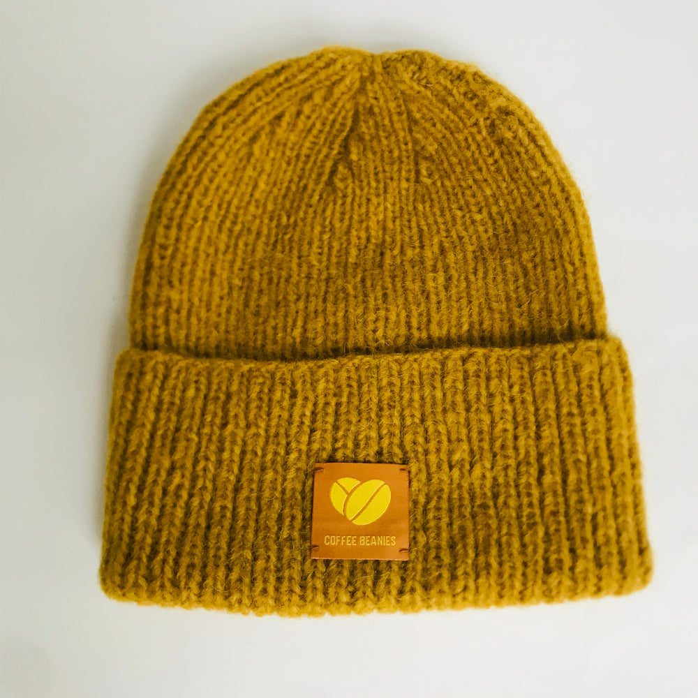 Coffee beanie sky yellow
