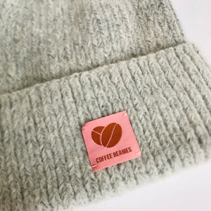 Coffee beanie sky grey, Hue, mumutane