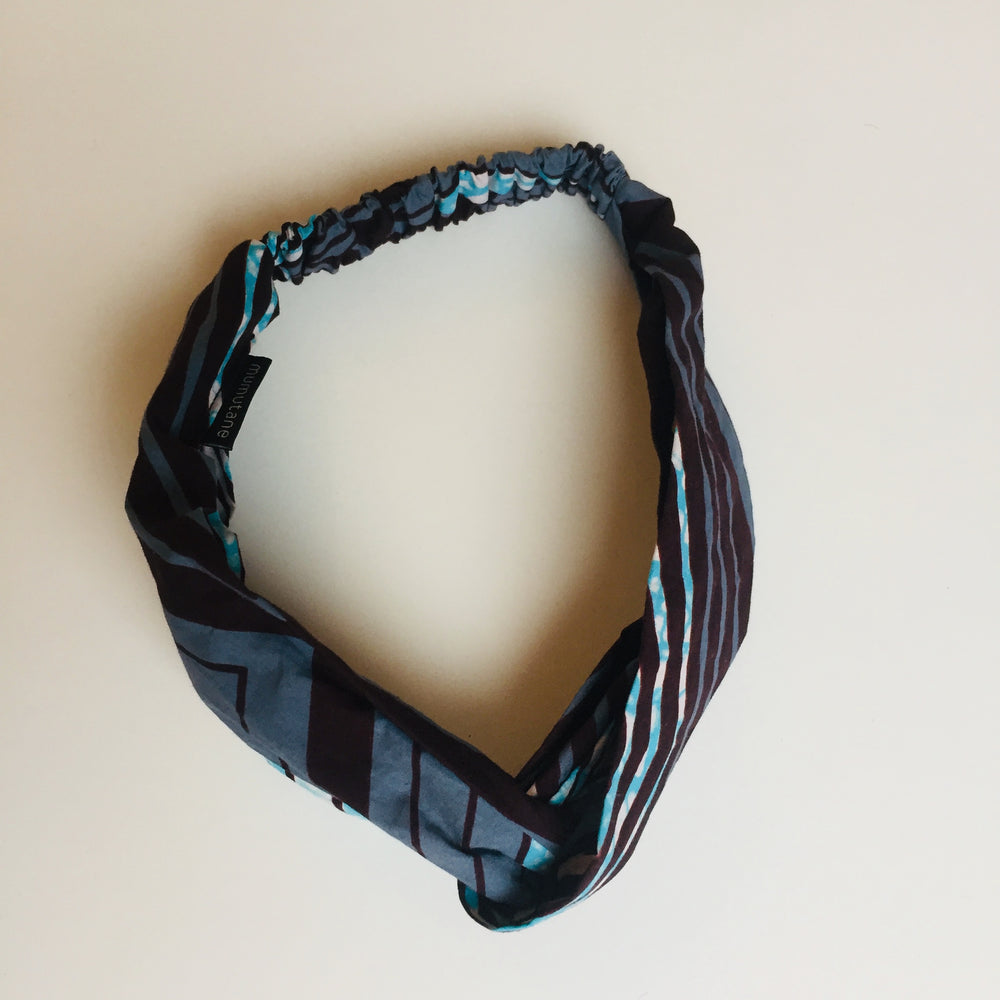 Turban headband geometric s/m, Turban headband, mumutane