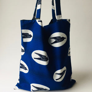 Ado tote bag blue birds, Mulepose, mumutane
