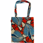 Ado tote bag blue feather
