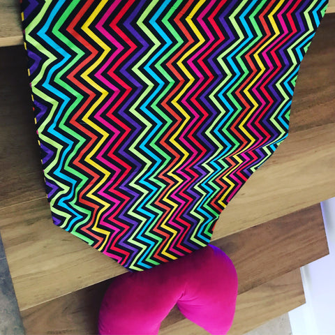 Zig-Zag Hot Pink - Summer Mermaid Tail