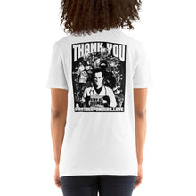 Load image into Gallery viewer, Nikko Abando Thank You First Responders T-Shirt Back