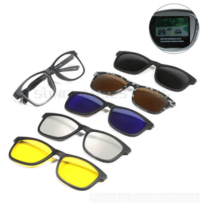 5Pcs Magnetic Clip on Sunglasses Over Glasses