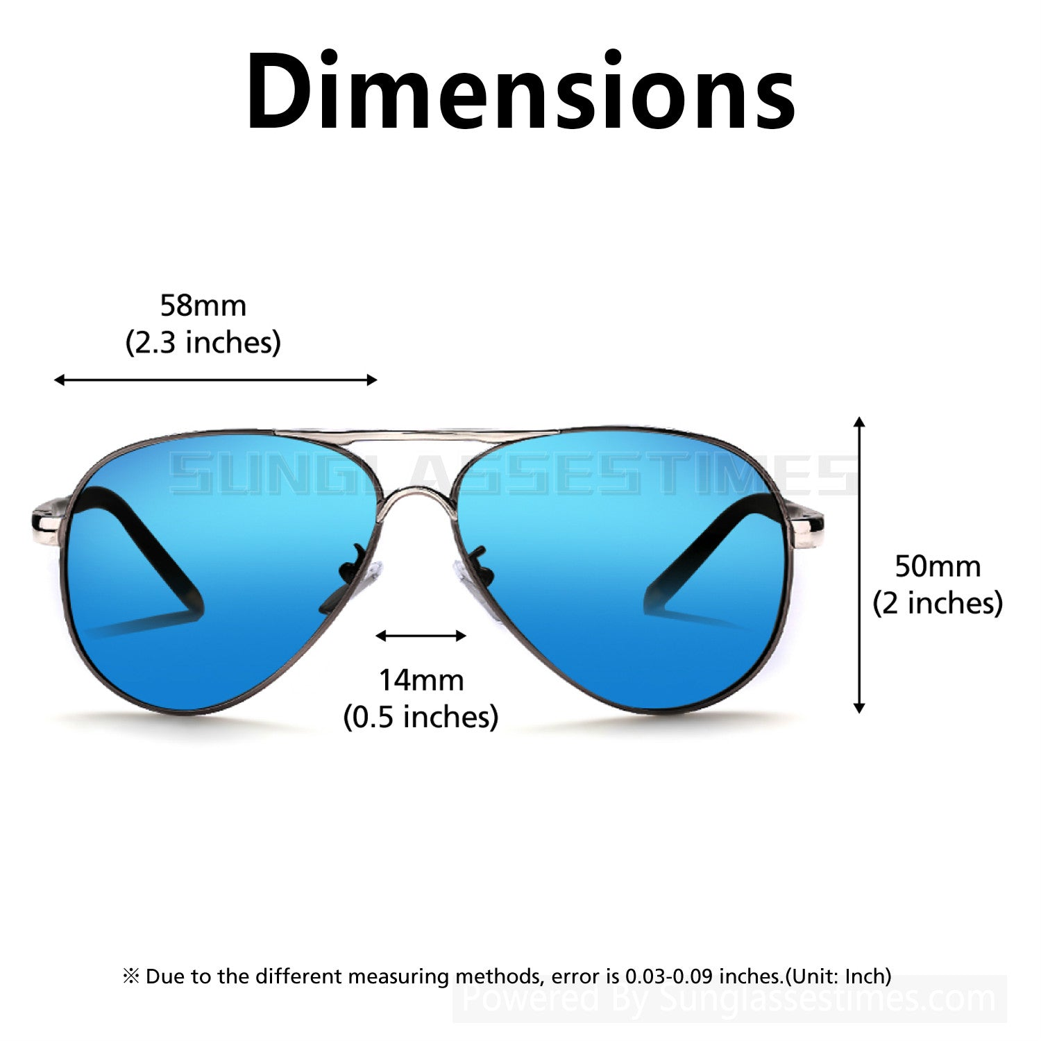 Unisex Polarized Sunglasses for travel driving outdoors
