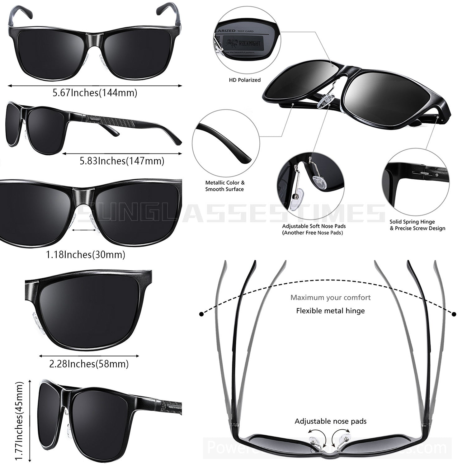 Mg Al Sunglasses Polarized For Traveling Fishing biking