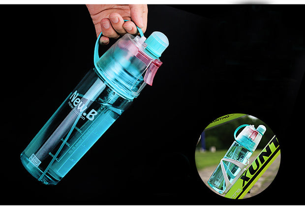 3 Colors Spray Sport Water Bottle