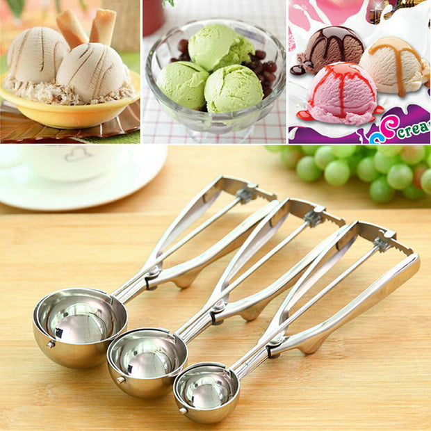 4CM 5CM 6CM Stainless Steel Kitchen Ice Cream Mash Potato Scoop