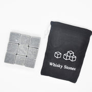 9pcs/set Natural Whiskey Stones Home Bar Tools