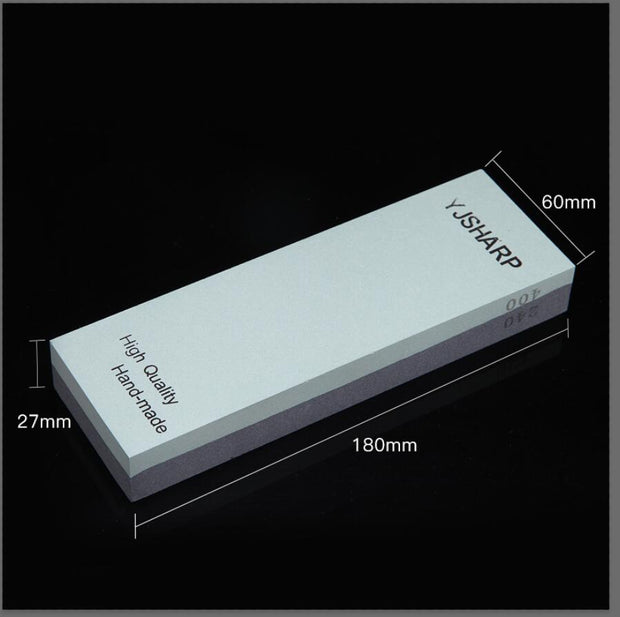 180mm, 60mm and 27mm One Piece Double Sided Knife Sharpening Stones