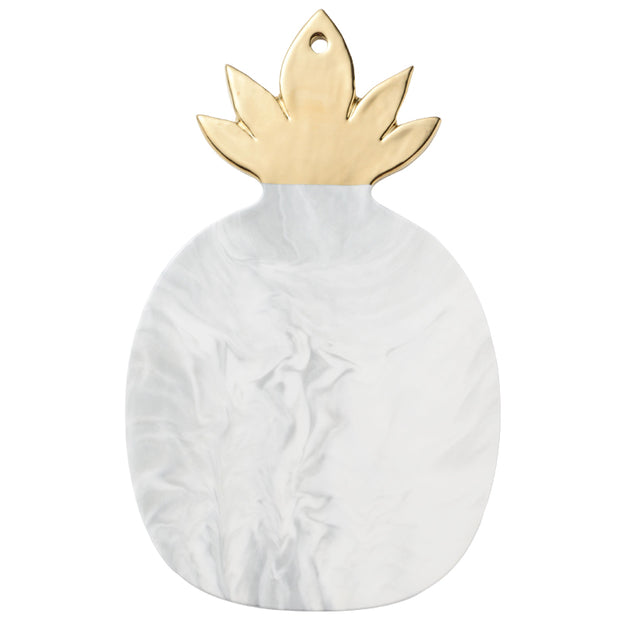 Ceramic plate marble pineapple gold leaf cheese plate