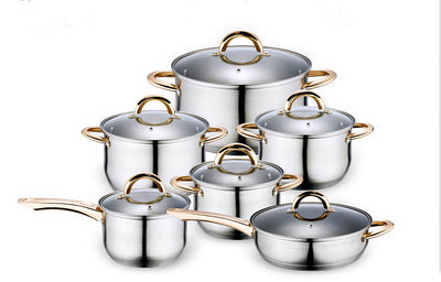 12PC Of 18/10 Stainless Steel Cookware Set