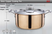 High-grade Copper 6 Pieces Cooking Pots And Pans Cookware Set