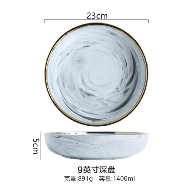Exquisite porcelain Marble Dinnerware