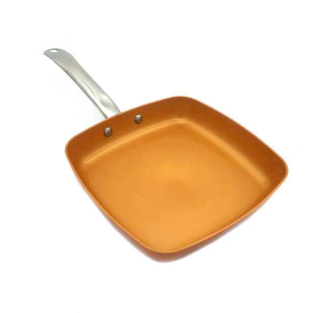 10-Inch Nonstick Deep Square Copper Coated Pan