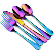 5PCS/SET Iridescent Mirror Dinnerware