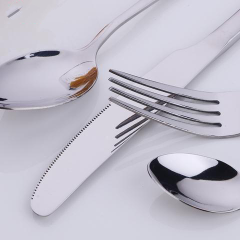 24 pieces Stainless Steel 6 Person Dinnerware Set