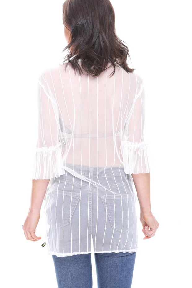 Crown Girl Sheer Mesh Blouse