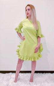 Lime Ruffle Dress