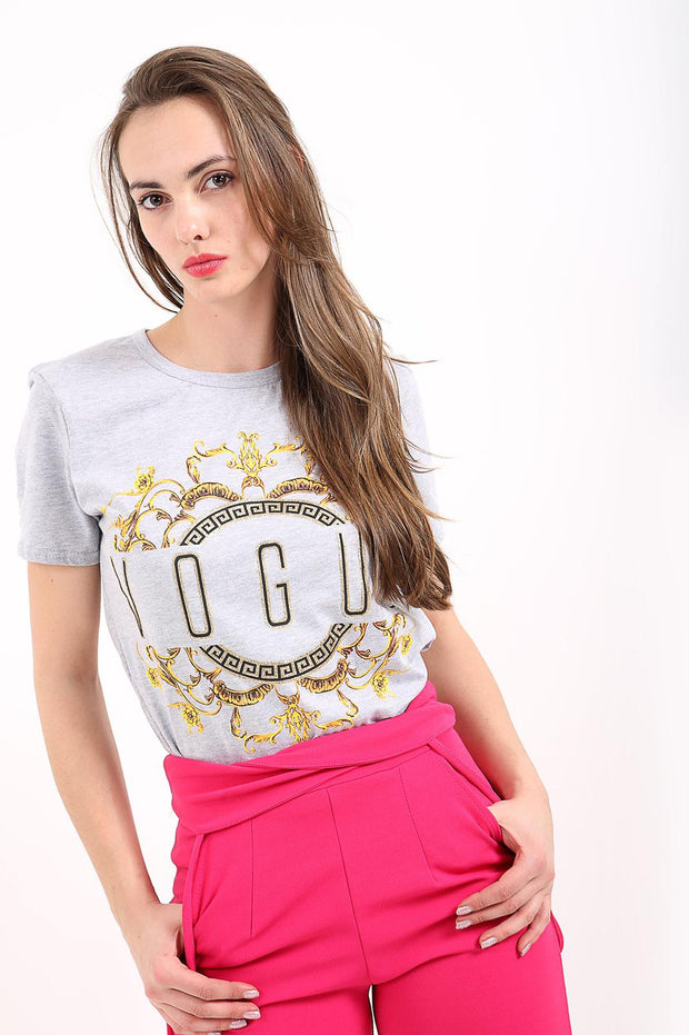 Gray Vogue T Shirt