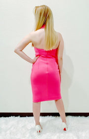 Sleeveless Fuchsia Ruffle Dress