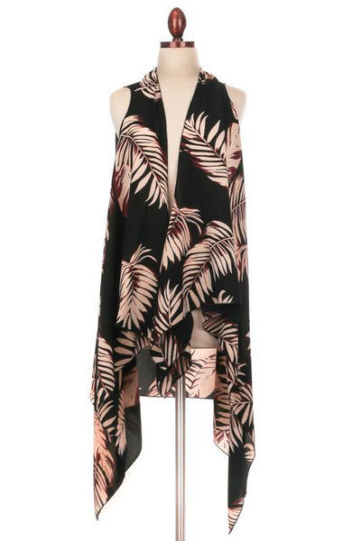 Black Tropical Vest