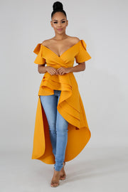 Mustard Fiona Tail Top