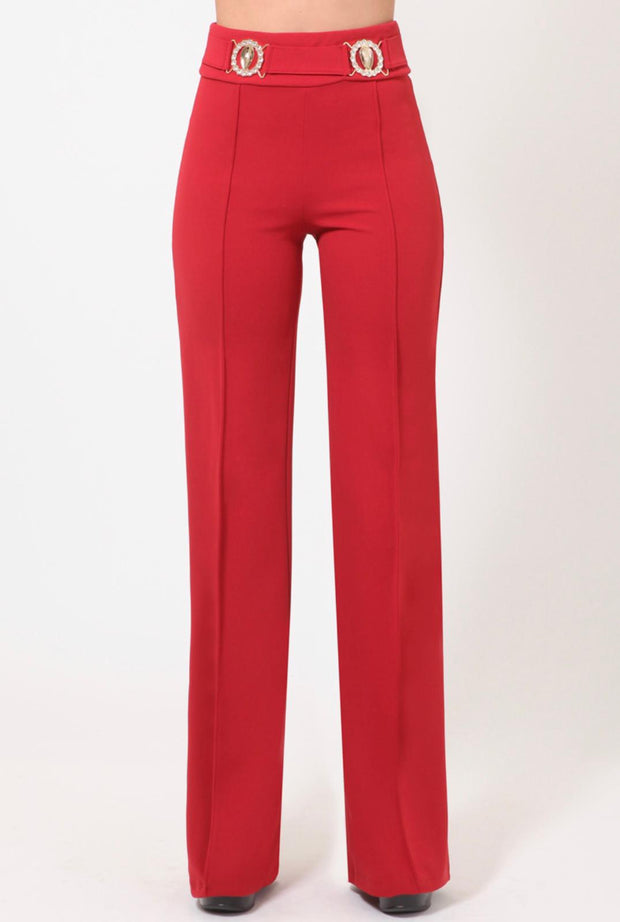 Rust High Waisted Trousers