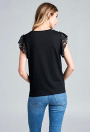 Black Sequin Parrot T-Shirt