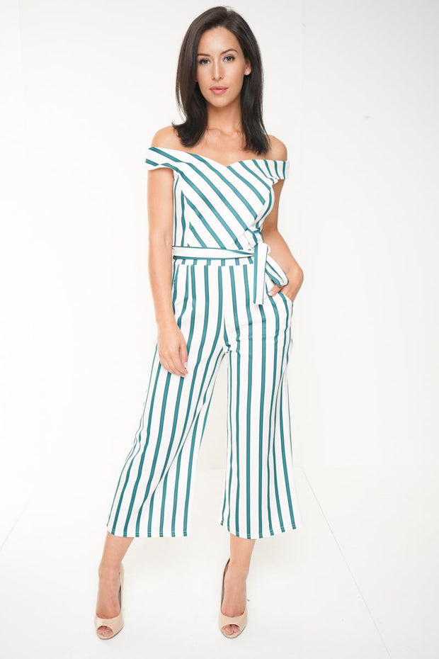 Striped Green Jumpsuit