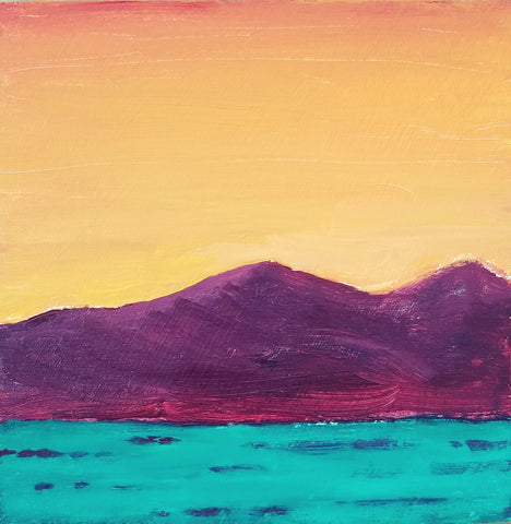 "Sweet Sunset, 6"" x 6"""